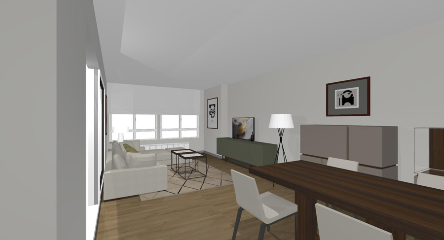 linea mueble proyecto vista 1 BAYONA Salon Vitoria