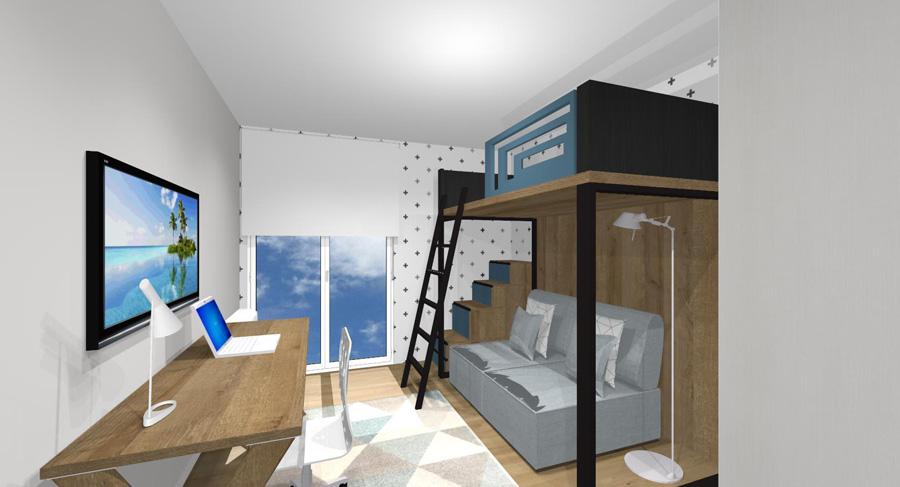 linea mueble proyecto vista 2 ZALACAIN Celia